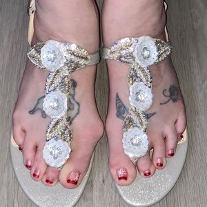 DESIGNED BY BETSEY JOHNSON!!!! NWOT SANDALS